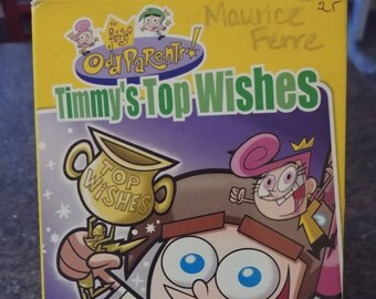 RARE The Fairly OddParents Timmy's Top Wishes Butch Hartman's Picks VHS tape Canadian Nelvana Video Odd Parents