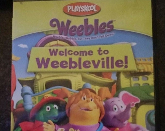 Rare Playskool Weebles DVD Welcome to Weebleville! Hasbro Paramount cartoon kids