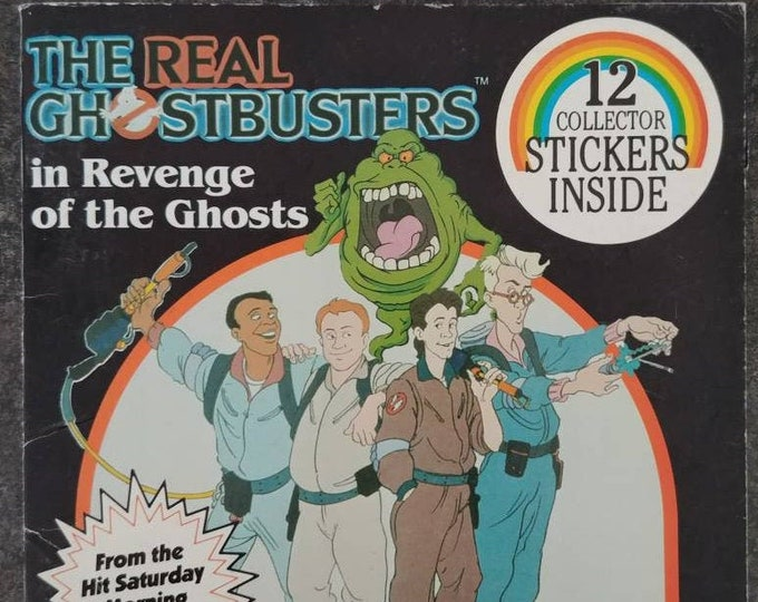 RARE The Real Ghostbusters in Revenge of the Ghosts Antioch Publishing Company 1986 kids mini book