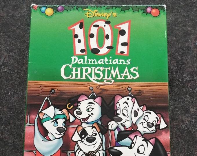 Disney's 101 Dalmatians Christmas VHS tape 1998 cartoon animated Walt Disney Home Video