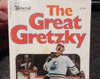 The Great Gretzky book paperback General Paperbacks 1982 Wayne Gretzky NHL hockey player vintage retro Terry Jones