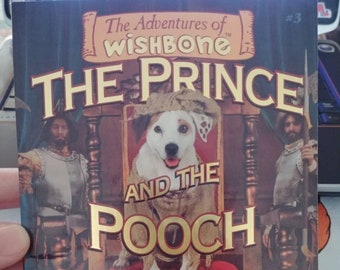The Adventures of Wishbone The Prince and the Pooch #3 book 1997 Big Red Chair Books TV Show PBS dog