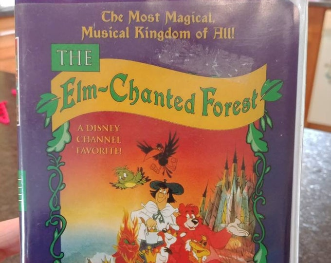 Very rare The Elm-Chanted Forest CLAMSHELL VHS tape CFP Video Canada 1997 Family Universal Network