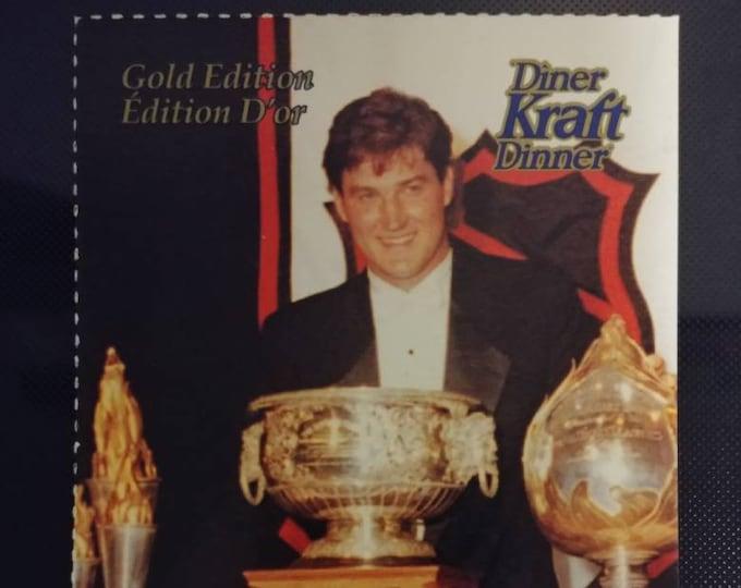 Mario Lemieux Pittsburgh Penguins Canadian Kraft Dinner Gold Edition large hockey card 1993 Kraft Foods