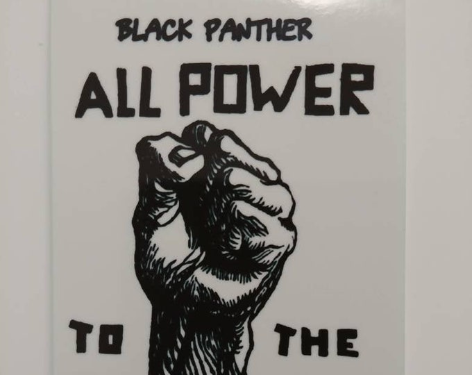 Mini custom print Black Panther Party All Power to the People! photo stickers 2x3 Canon Ivy HP Sprocket Polaroid Zip Instax style unique