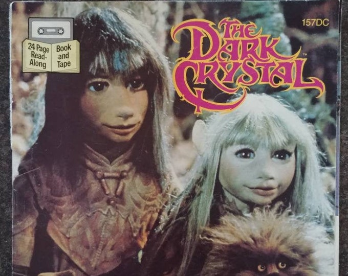 Rare The Dark Crystal 1982 Read Along tape cassette version kids book Jim Henson Muppets puppets Buena Vista VHTF