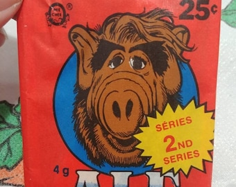 RARE O-Pee-Chee Alf 2nd Series cards and bubble gum packs Bilingual Canadian version 1987 NEW SEALED