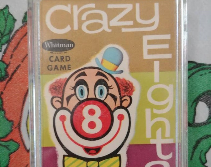 Original Whitman Card Game Crazy Eights Circus pictures from 1951 early logo complete game 45 card set kids games Western Publishing