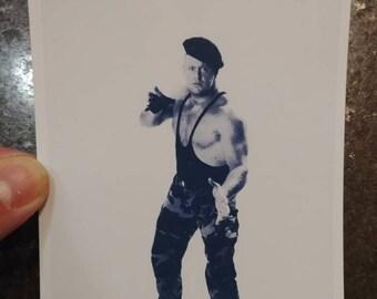 UWF wrestling The Commando Undertaker promo style art print 4x6 photo WWE WWF
