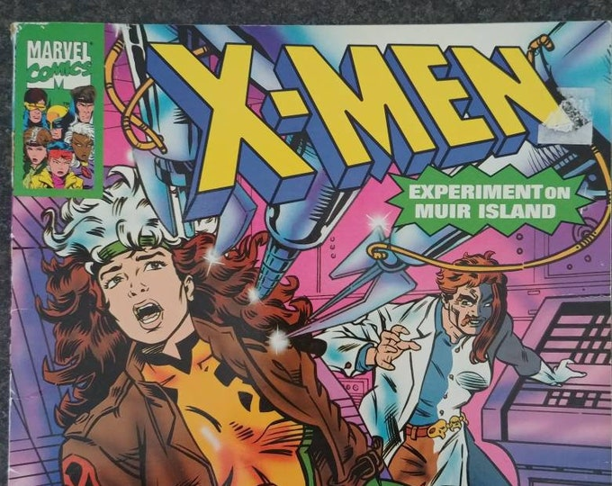 Marvel Comics X-Men Experiment on Muir Island 1994 Random House Inc. kids comic book style book based on the TV show