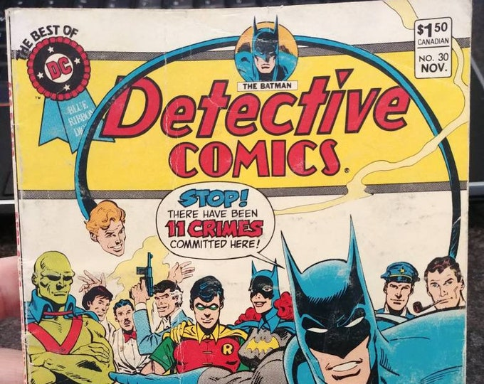 Hard to find The Best Of DC Blue Ribbon Digest The Batman Detective Comics #30 November 1982 Canadian price variant comic book