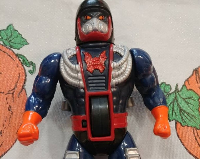 Vintage 1986 Mattel Masters of the Universe Dragstor Dragster action figure cartoon TV show He-Man MOTU