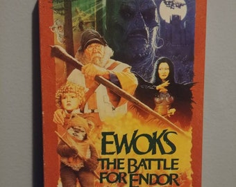 Rare Ewoks The Battle For Endor VHS tape 1985 TV Movie MGM Home Video Star Wars