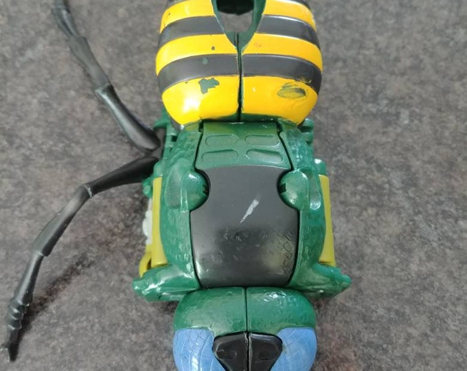 Rare vintage Beast Wars Transformers Waspinator toy figure bug wasp 1996 Hasbro INCOMPLETE