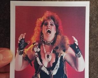 WWA woman's wrestling Queen Kong Matilda The Hun promo style art print 4x6 photo POWW WWF