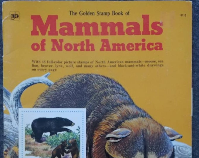 Vintage Mammals of North America The Golden Stamp Book 1976 fifth printing Golden Press stamps stickers animals