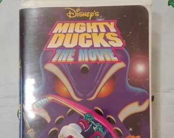 Disney's Mighty Ducks The Movie The First Face-Off VHS tape kids cartoon show animated 1997 Walt Disney Home Video clamshell 1st issue