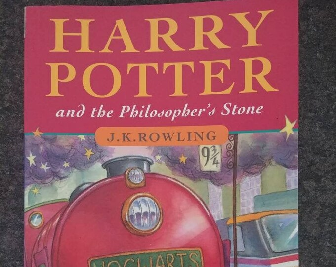 Harry Potter and the Philosopher's Stone soft cover book Canadian edition 16th Print WAND TYPO page 53 version