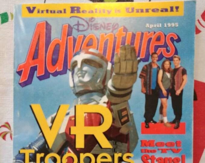 Vintage HTF Disney Adventures kids magazine April 1995 Vol. 5 Number 6 Issue VR Troopers