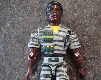 Lanard 1986 The CORPS International Security Force Flashfire figure GI Joe toy action figure yellow trim 3.75 inch