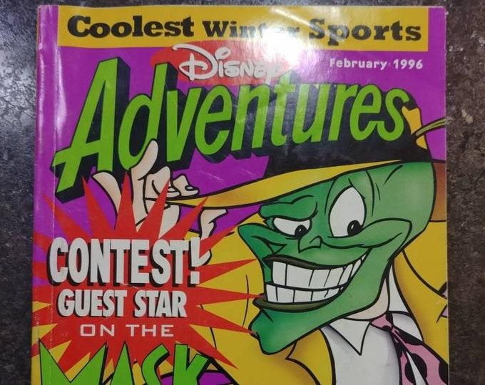 Vintage HTF Disney Adventures kids magazine February 1996 Vol. 6 Number 4 Issue The Mask TV Show