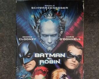 Batman & Robin VHS tape 1997 WB Video Warner Bros. Home Video Canadian version tape