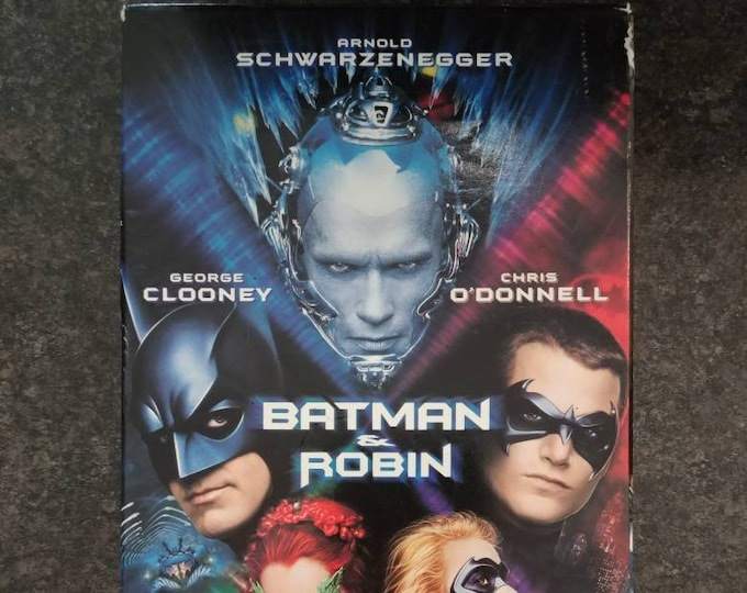 Batman & Robin VHS tape 1997 WB Video Warner Bros. Home Video Canadian version tape