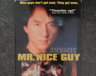 Jackie Chan Mr. Nice Guy VHS tape 1998 Alliance Video Canadian version tape ex-video rental