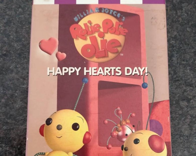 RARE Canadian version Rolie Polie Olie Happy Hearts Day! VHS tape Nelvana Canada 1998