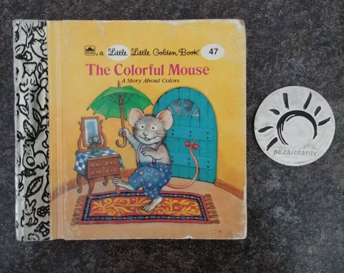RARE Vintage Little Little Golden Book miniature book number 47 The Colorful Mouse