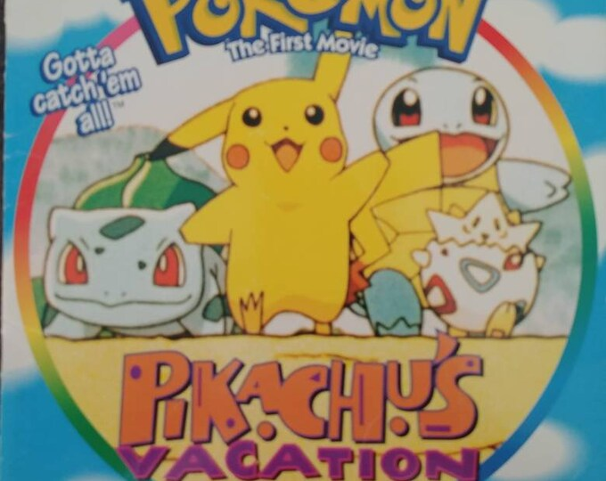 Pokemon The First Movie Pikachu's Vacation Golden Books 1998 Golden Books Publishing Company kids picture book Nintendo