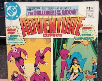 Hard to find Adventure Comics DC Digest Challengers of the Unknown #493 November 1982 Canadian price variant comic book