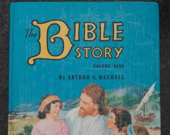 Vintage The Bible Story Volume 9 kids book by Arthur S. Maxwell hardcover early edition print 1957