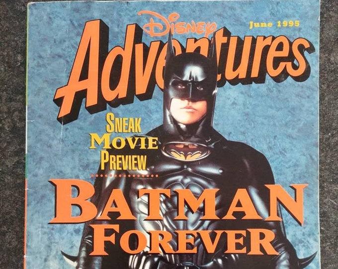 Vintage HTF Disney Adventures kids magazine June 1995 Vol. 5 Number 8 Issue Batman Forever Val Kilmer
