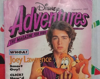 Vintage HTF Disney Adventures kids magazine September 1993 Vol. 3 Number 11 Joey Lawrence