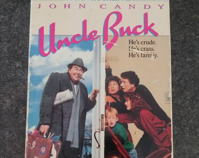 Uncle Buck John Candy comedy movie VHS tape MCA Home Video 1989