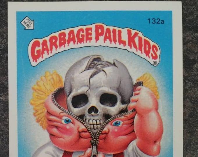 Topps 1986 Series 4 Garbage Pail Kids card 132a Bony Tony sticker card gross shock 80's