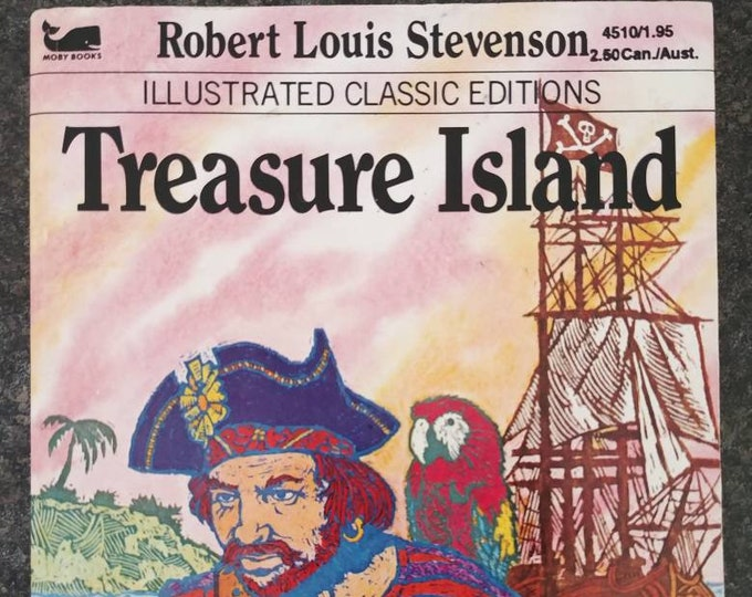 Moby Books mini Illustrated Classic Editions Treasure Island book 1977 Playmore Inc. Publishers