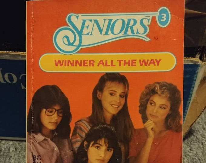 Rare HTF Seniors No. 3 Winner All The Way Teen Romance highschool book novel by Eileen Goudge First Printing 1984 Dell Publishing
