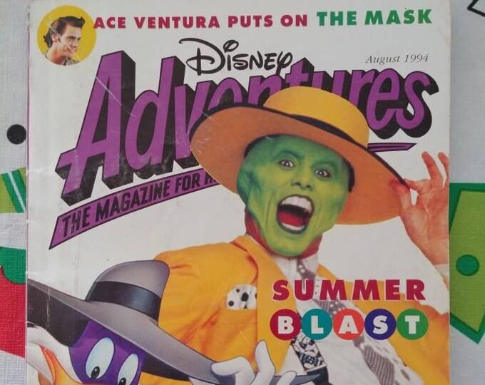 Vintage HTF Disney Adventures kids magazine August 1994 Vol. 4 Number 11 Summer Blast movies The Mask