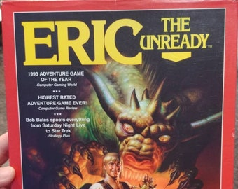 Rare Eric The Unready big box PC video game dos CD-ROM software 1997 version game Legend Entertainment Company