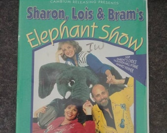 RARE Canadian Sharon, Lois and Bram's Elephant Show Vol. 2 VHS tape 1996 Malofilm Video