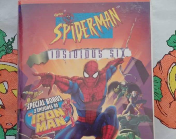 VERY RARE Insidious Six Spider-Man VHS tape Marvel Films Telegenic 1997 100 mins.