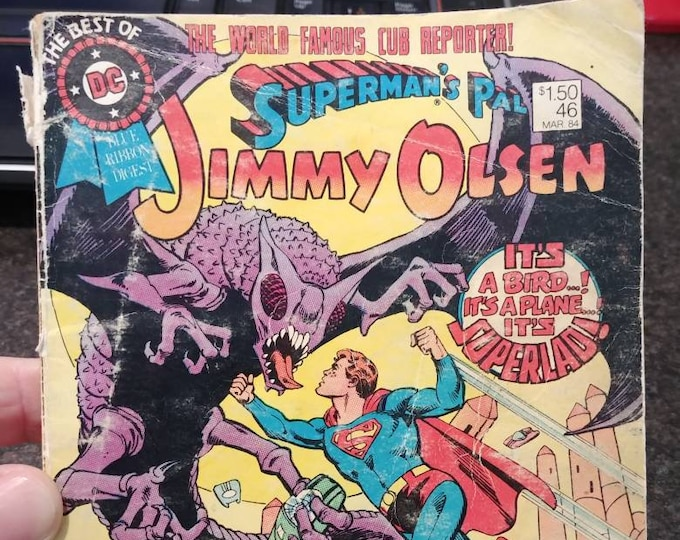 Hard to find The Best Of DC Blue Ribbon Digest Superman's Pal Jimmy Olsen #46 March 1984 comic book