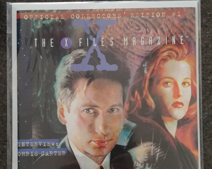 Rare hard to find The X Files Magazine very first issue from 1996 Topps Publishing