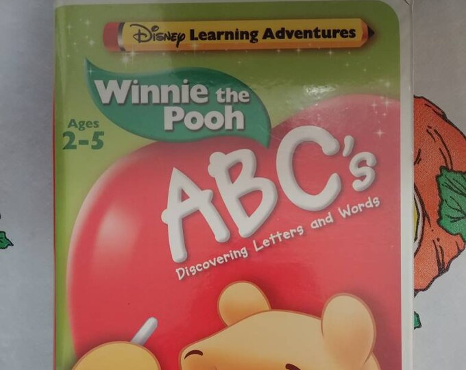 Rare Disney Learning Adventures Winnie the Pooh ABC's VHS tape Discovering Letters and Words Walt Disney Home Video