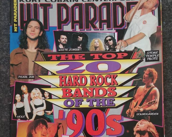 Vintage Hit Parader from Dec 1995 The Top 20 Hard Rock Bands of the 90's Nirvana Pearl Jam Green Day Primus