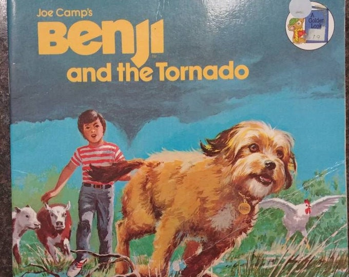 Joe Camp's Benji and the Tornado A Golden Look Look Book 1981 Western Publishing Company kids book
