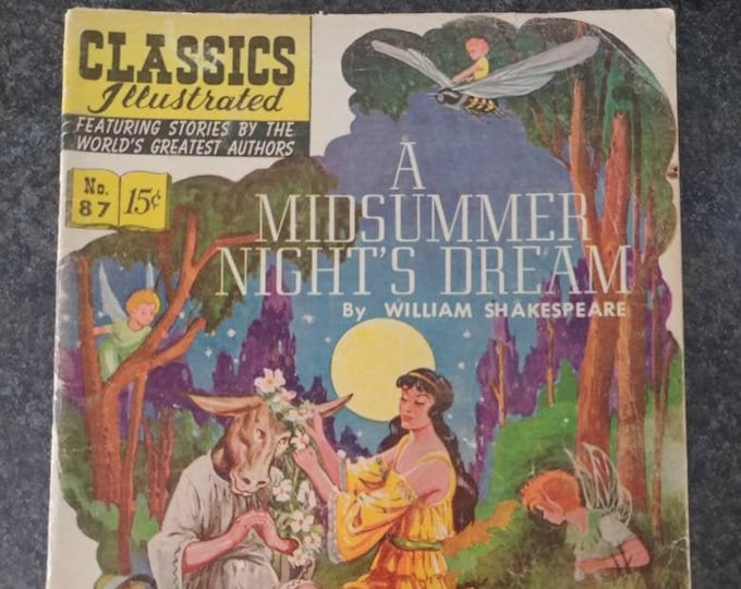 Vintage HTF Classics Illustrated September 1951 No. 87 1st printing A Midsummer Night's Dream by William Shakespeare comic book story