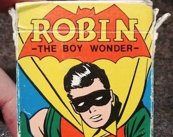 Original Russell's Super Hero Card Game Robin The Boy Wonder 1977 complete kids game cards Batman Penguin Batgirl